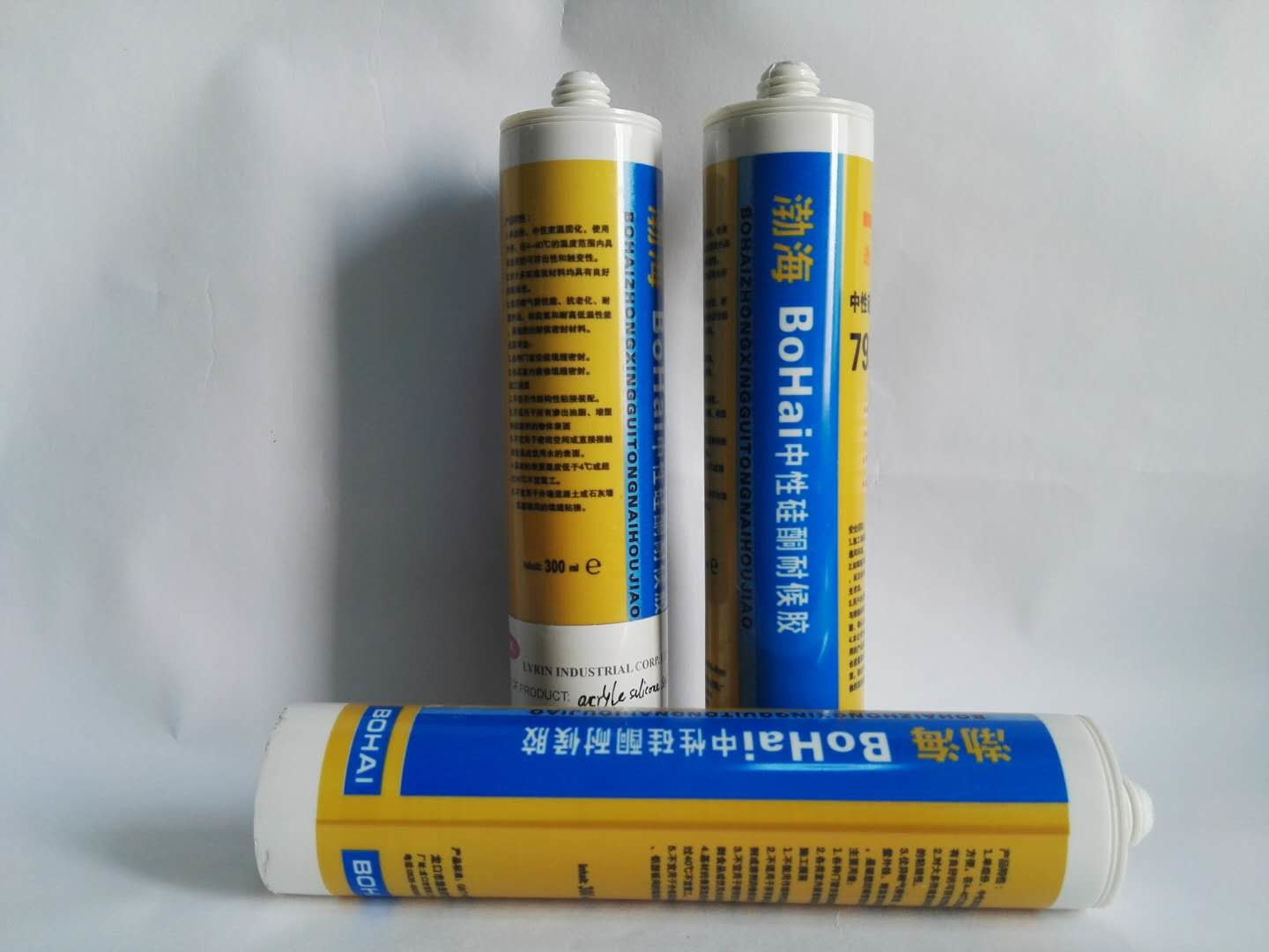 ISO Certified Paintable Silicone Sealant Acrylic Sealant Lyrin For Indoor